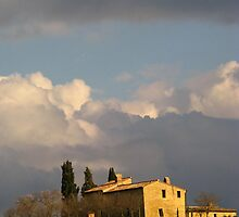 Tuscany -  Farmhouse in the sun by Maureen Keogh