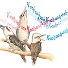 Kookaburras laughing by heatherjoy