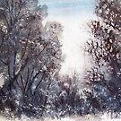Early morning in Thredbo, Australia by Angela Gannicott