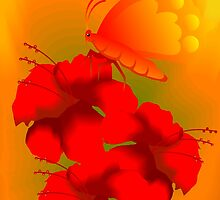 Digital painting of flower. by tillydesign