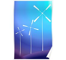 Wind mill in the moon light 	 Poster