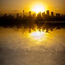 Sydney Harbour sunset abstract by Sheila  Smart