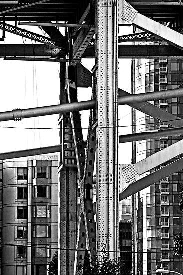 Urban Living in San Francisco - The Bay Bridge & Apartments by Buckwhite