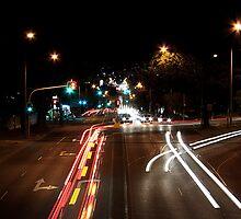 Car Lights on Ipswich Road by Helen Martikainen