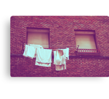 When we're back from vacation the laundry will be dry Canvas Print