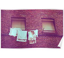 When we're back from vacation the laundry will be dry Poster