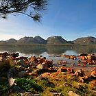 Red rocks and  Hazards, Freycinet Tasmania by bevanimage