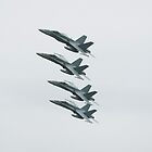 F/A-18 Hornets by Dean Perkins