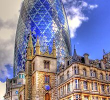 "30 St Mary Axe - The ""Gherkin"" - HDR by Colin J Williams Photography"