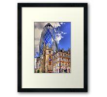 """30 St Mary Axe - The """"Gherkin"""" - HDR Framed Print"""
