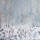 Silver Birch in Snow by Sue Nichol