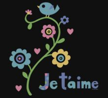 Je t'aime - I love you - dark Kids Clothes