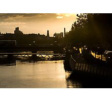 Golden Sunset Over the River Liffey Photographic Print