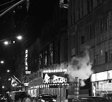 New York at Night Mono by id4jd