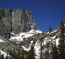 Hallet Peak from Bear lake trail,Colorado RMNP by David  Hughes
