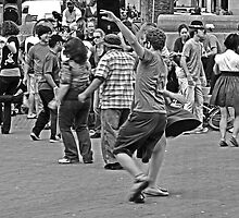 Urban Living in San Francisco - Dancing in the Street by Buckwhite