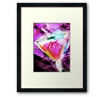 violet martini Framed Print