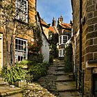 Robin Hood Bay Alleyway by Peter Ellison