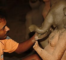 Making of Ganesha by Indrani Ghose