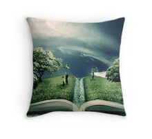 The Magic of Literature Throw Pillow