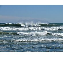 Waves from the Atlantic - Wind from the North - Point Judith - Rhode Island Photographic Print