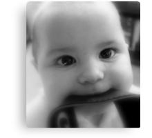 Strap-ping- Baby Girl Canvas Print
