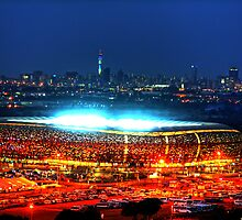 V I E W   B I G !!! SoccerCity / FNB Stadium @Night by JandeBeer