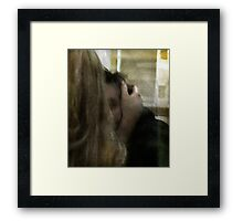 He could not help but Love her Framed Print