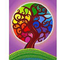 Rainbow Orb Tree of life Photographic Print