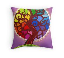 Rainbow Orb Tree of life Throw Pillow