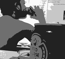 jan kevin (dringking redhorse beer) by jankevin04