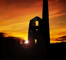 Engine House in Silhouette by hootonles