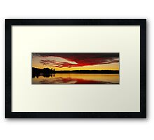 Silver Lake Sunset Framed Print