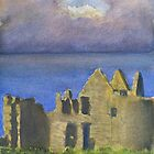 Approaching Storm, Dunluce Castle by Les Sharpe