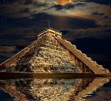 Chichen Itza Ancient Mayan Temple Art Poster by Skye Ryan-Evans