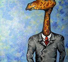 Card-Shark: Gambling Giraffe by Amber Cross