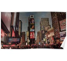 Times Square in the evening Poster