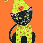 Halloween Black TunaKitty by Laura J. Holman