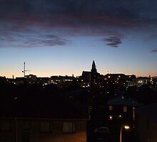 Reykjavik at Sunset by Kassey Ankers