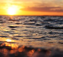 Sunset on the sea by redcow