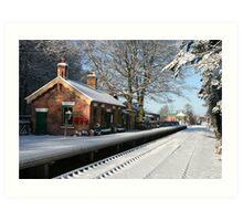 Holt Station, Norfolk Art Print