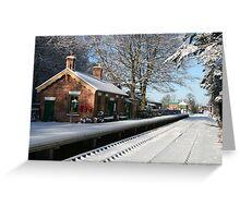 Holt Station, Norfolk Greeting Card