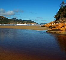 Tidal River Meets the Sea,Wilsons Prom by Joe Mortelliti
