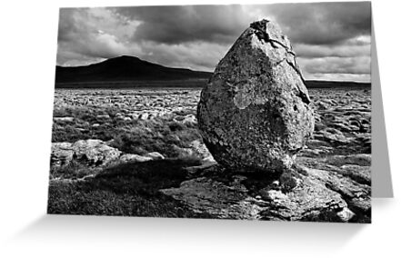 Ingleborough from Twisleton Scar, Yorkshire Dales by Dave Lawrance