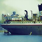 Great Lakes Freighter - Mississagi by Barry W  King