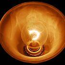 Glass Illuminated Light Bulb by imagetj