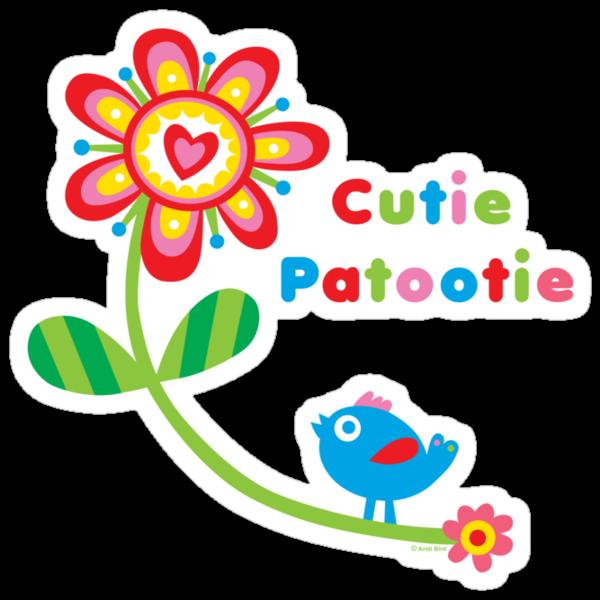 Cutie Patootie - on darks by Andi Bird