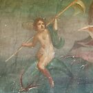 Boy nymph & Dolphin Fresco at Pompei by TOM HILL - Designer