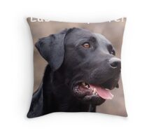 Lab of my life! Throw Pillow