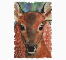 Deer Fawn Wildlife Water-colour Design by Skye Ryan-Evans